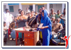 Azad India Foundation distributed certificates to the women